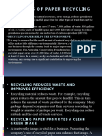 Benefits of Paper Recycling