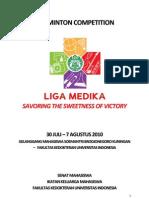 Peraturan Badminton Liga Medika 2010