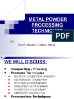 Metal Powder Processing Techniques