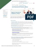 Registro Nacional de Protestos y Moras - Cámara de Comercio de Lima