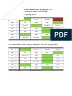 master schedule change for spring 2016