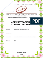 Monografia Uladech, Administracion y Administradores, Fiorella