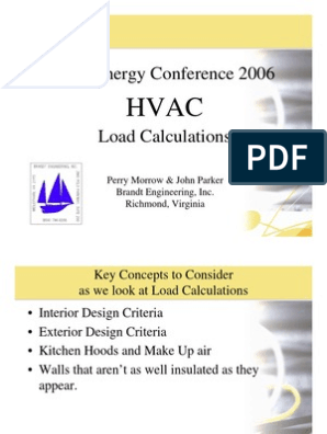 HVAC Load Calculations Guide | Hvac | Relative Humidity