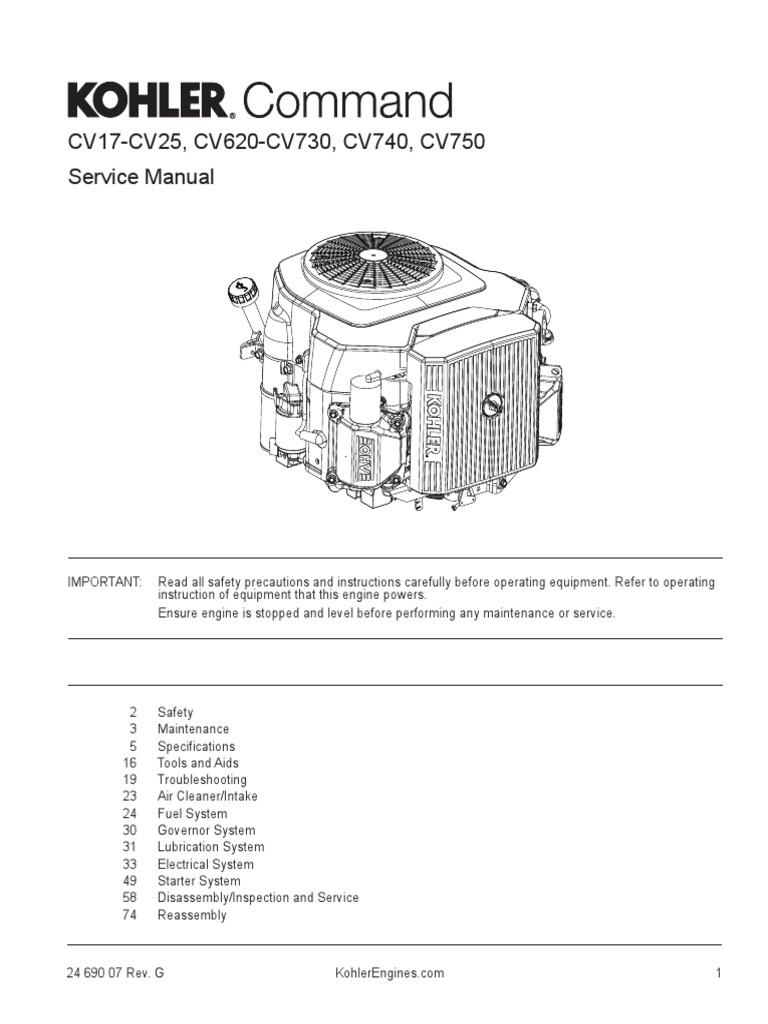 Kohler Cv22 | Carburetor | Gasoline