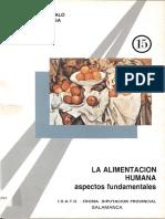 La Alimentacion Humana Aspectos Fundamentales