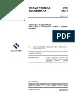 (779458528) 58307982 NTC 512 1 Rotulado o Etiquetado Normas Generales