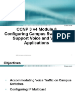 Configuring Campus Switches to Support Voice and Video Applications