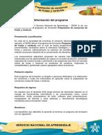 Informacion Preparacion de Conservas