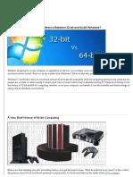 32-Bit and 64-Bit Windows