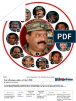 List of Commanders of the LTTE