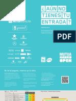 Precios Open Tenis Madrid 2016