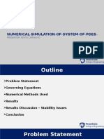 Numerical Simulation System of PDEs (Oil Water Reservoir)