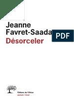 Favret-Saada Jeanne - Désorceler
