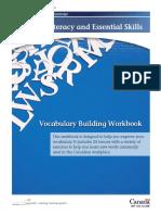 Vocabulary building Workbook - Canada