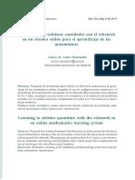 Aprendiendo a subitizar cantidades con el rekenrek en un sistema online para el aprendizaje de las matemáticas