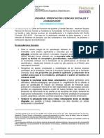 Recomendaciones Orientacion Ciencias Sociales y Humanidades