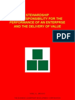 Stewardship - The Responsibility For the Performance of an Enterprise and the Delivery of Value