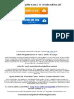 Rafael Del Aguila Manual de Ciencia Politica PDF