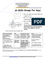Summer 2016 Social Skills Groups Flyer