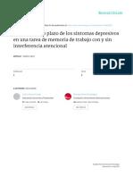 Botelho Et Al (2015). Efectos a Largo Plazo de Los Síntomas Depresivos en Una Tarea de Memoria de Trabajo Con y Sin Interferencia Atencional