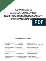 Las Variedades Socioculturales y Los Registros Idiomáticos (1)
