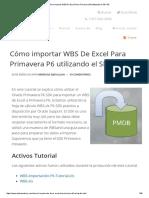 Cómo Importar WBS de Excel Para Primavera P6 Utilizando El SDK P6