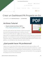 Crear Un Dashboard P6 Proyecto en Excel
