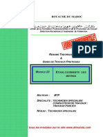 Module 05 Etablissement Des Metres BTP-TSCT