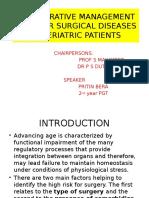 Perioperative Management of Major Surgical Diseases in Geriatric