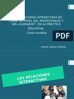 relaciones interactivas en la clase