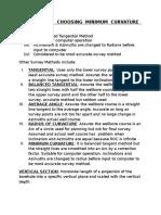 Reasons for Choosing Minimum Curvature Method