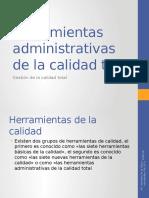 2.1.3 Herramientas Administrativas de La Calidad Total