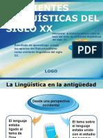 Corrientes Linguisticas Siglo Xx