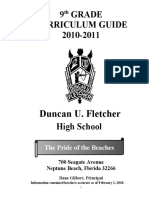 9th Grade Curriculum Guide 2010-2011