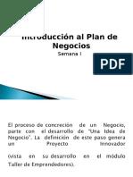 Semana 01 Plan de Negocios