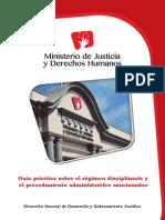 MINJUS DGDOJ Guía Sobre El Régimen Disciplinario