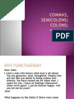 Commas Semicolons