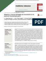 Objetivos y Nuevas Estrategias de Resucitación en El Paciente Traumatizado Grave