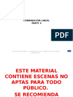 Combinacion Lineal Parte 2 Diapositivas