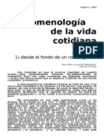 Fenomenología de La Vida Cotidiana