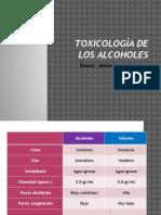 Toxicología de Los Alcoholes
