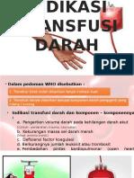 Indikasi Transfusi Darah