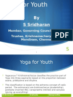 Yoga for Youth by S Sridharan