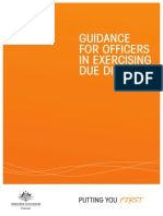 Guidance for Officers in Exercising Due Diligence