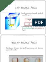 Curso Presion Hidrostatica Teorema Fundamental Principio Pascal Prensa Hidraulica Principio Arquimedes Empuje