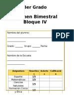 3er Grado - Bloque 4 (2014-2015) Exa