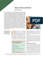 Treatment of Knee Osteoarthritis