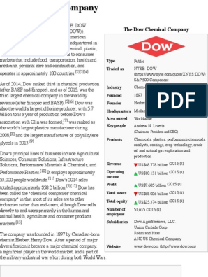 Dow Chemical Company - Wikipedia, The Free Encyclopedia