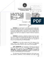 Comelec Resolution No. 8878