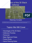 Basic Concepts of the 30 Stack Defense